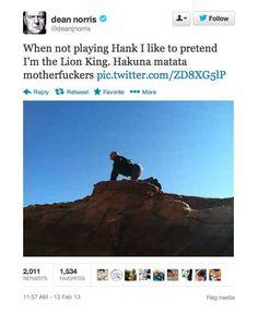 "Community: 18 Surprisingly Funny Tweets From ""Breaking Bad""'s Dean Norris"