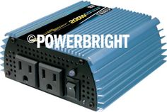 Power Bright PW200-12 Modified Sine Wave 12 Volt Power Inverter
