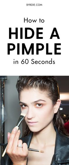 How to hid a pimple