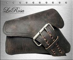 2004-2017 LaRosa Rustic Black Leather La Fondina Harley