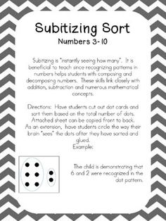 This is a cut/paste sort with dot cards 3-10.