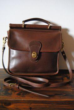 Leather Station Satchel Bag by hunterdear on Etsy, $38.00