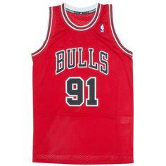 Maillot basket retro Swingman Legends homme Adidas Dennis Rodman Chicago Bulls rouge L70658