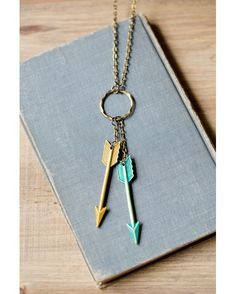 "This arrow necklace is right on target! With a 30"" chain it's great for layering with another necklace, or fabulous on its own!"