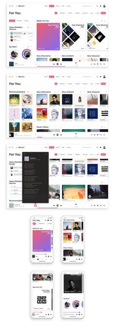 In-depth design proposal for a slightly better app. Web Design, Email Design, Site Design, Graphic Design, Web Responsive, Case Study Design, Card Ui, Tablet Ui, Music Web