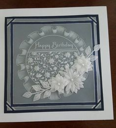 TT floral in frilly circle Hobbies And Crafts, Diy And Crafts, Vellum Crafts, Parchment Design, Polymer Clay Fairy, Parchment Cards, Clay Fairies, Paper Cards, Embossing Folder