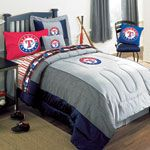 Texas Rangers MLB Authentic Team Jersey Bedding Full Size Comforter / Sheet Set