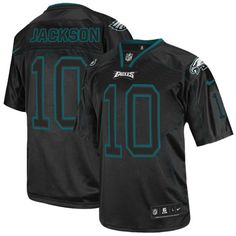 b32916f88 Men s Nike Philadelphia Eagles  10 DeSean Jackson Elite Lights Out Black  Jersey  129.99 Desean Jackson
