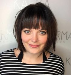 Bobbed Hairstyles With Fringe, Bob Hairstyles For Thick, Round Face Haircuts, Hairstyles For Round Faces, Hairstyles With Bangs, Medium Hairstyles, Pixie Haircuts, Braided Hairstyles, Wedding Hairstyles