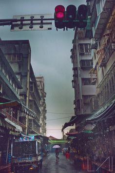 Pouring Rain -Taipei Alley