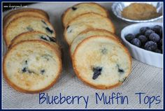 Blueberry Muffin Tops: easy and delicious breakfast. These freeze well too!