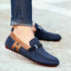 CDJ New Mens Leather Loafers Driving Moccasins slip on loafer Casual Shoes in Clothing, Shoes & Accessories, Men's Shoes, Casual Mens Leather Loafers, Loafers Men, Leather Men, Suede Leather, Loafer Shoes, Men's Shoes, Shoe Boots, Dress Shoes, Wing Shoes