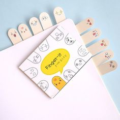 Finger-it Sticky Notes / Cute Kawaii Finger Post-It Notes / School Supplies / Stationery / Bookmark Memo Pad