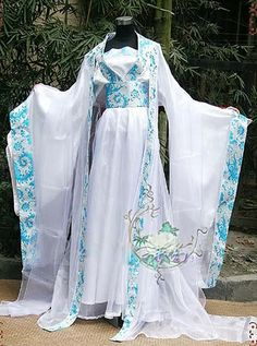 Chinese Fairy's HanFu Light Blue Cosplay Kimono Dress - COSPLAY IS BAEEE! Tap the pin now to grab yourself some BAE Cosplay leggings and shirts! From super hero fitness leggings, super hero fitness shirts, and so much more that wil make you say YASSS! Chinese Kimono, Japanese Kimono, Blue Kimono, Kimono Dress, Kimono Style, Traditional Fashion, Traditional Dresses, Chinese Clothing, Oriental Fashion