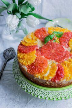 Ciasto odwrócone z pomarańczami i grejpfrutem #gryz #MagazynGRYZ