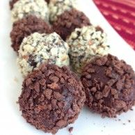 Chilli Chocolate Truffles or Dark Espresso Chocolate Truffles....covered in Cacao Nibs...simply delish n decadent!