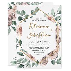 Gold Wedding Invitations, Rustic Invitations, Wedding Stationary, Rustic Wedding Invitations, Make Your Own Wedding Invitations, Wedding Invitation Inspiration, Invitation Ideas, Digital Invitations, Wedding Cards