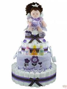 girl diaper cake #timelesstreasure.theaspenshops.com