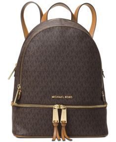 8f52a5f56b Michael Michael Kors Rhea Zip Medium Backpack - Brown Michael Kors Satchel