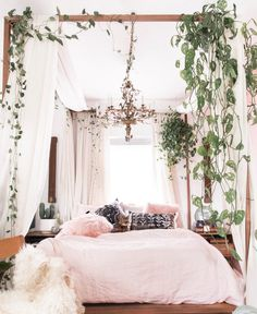 Boho bedroom| follow @shophesby for more gypset boho modern lifestyle + interior inspiration