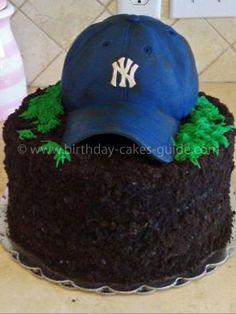 c513ff647a6 Baseball cap cake - tips to make it look real. Baseball Birthday