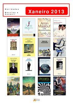 Novas novelas incorporadas á colección da Biblioteca Os Rosales en xaneiro de 2013.