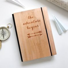 A personalised wooden notebook etched with a world map and the coordinates of your choice. This personalised notebook would make a great gift for a loved one or Gifts For Dad, Fathers Day Gifts, Map Coordinates, Wooden Map, Personalized Notebook, And So The Adventure Begins, Journal Notebook, Travel Gifts, Graduation Gifts