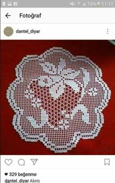 This Pin was discovered by Ayl Crochet Collar Pattern, Crochet Doily Diagram, Crochet Bikini Pattern, Crochet Doily Patterns, Crochet Borders, Crochet Designs, Crochet Doilies, Crochet Lace, Fillet Crochet
