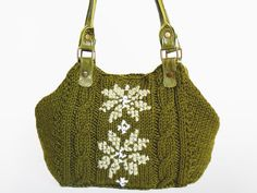 BAG // Green  Khaki Shoulder Bag Celebrity Style With by Sudrishta, $99.00