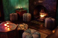 low tables, lanterns, & ottomans