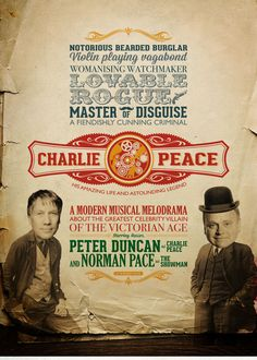 The new artwork for Charlie Peace: His Amazing Life & Astounding Legend.