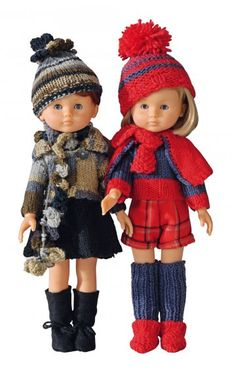 Modéles proposés par MCI - Made in Tina Nancy Doll, Knit Crochet, Crochet Hats, Toddler Dolls, Knitted Dolls, Diy Doll, Crochet Clothes, Pattern Fashion, Barbie Dolls