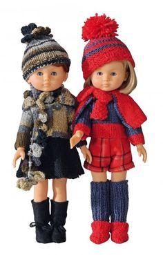 Des poupées en tenue d'hiver