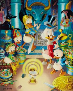 Donald Duck and Uncle Scrooge - The Stone That Turns Metal to Gold by Carl Barks