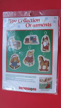 Dimensions Old Fashioned Toys Counted Cross Stitch Ornament Kit 8392 Makes 6 New #Dimensions #Ornaments