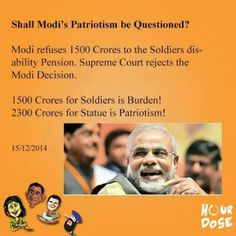 Shall Modi's Patriotism be questioned?   #narendramodi #soldiers #patriotism