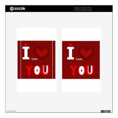 Typography I love you Decals For Kindle Fire - typography gifts unique custom diy
