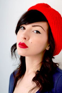 my next Mac purchase maybe? Been wanting to try a bright red lipstick  -Mac Russian Red Lipstick