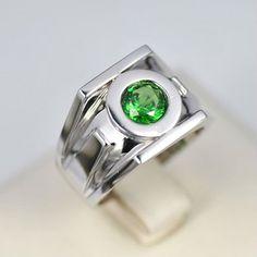 green lantern emerald 925 silver rings for men - Green Lantern Wedding Ring