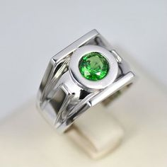 Green Lantern Emerald 925 Silver Rings For Men