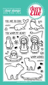 Polar Pals clear stamps by Avery Elle.