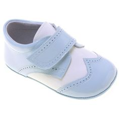 Picture of Baby Boys Baby Blue White Patent Shoes baby boys sky blue white patent shoes 4063 1