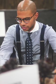 Eventually we may try suspenders because they can be strikingly classy. However, they require a lot of confidence to wear and aren't a good place to start until you build your style and reputation. Otherwise, people see you as gimmicky.