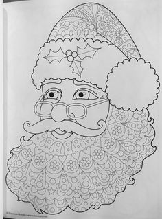 Christmas Adult Coloring Books Beautiful Santa Claus Christmas Coloring Page by Thaneeya Free Christmas Coloring Pages, Santa Coloring Pages, Free Coloring Pages, Printable Coloring Pages, Coloring Sheets, Coloring Books, Christmas Colors, Christmas Crafts, Whimsical Christmas