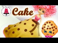 "Shopkin Inspired ""Kooky Cookie"" Princess Dress Cake - How To With The Icing Artist - YouTube"