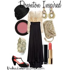 Downton Abbey Inspired by lizamazoo on Polyvore