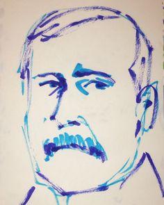 いいね!8件、コメント1件 ― @1mindrawのInstagramアカウント: 「#1mindraw #johnrockfeller #ジョンロックフェラー #18390708 #birthday #誕生日 #portrait #筆ペン画」