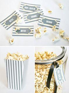 Printable Popcorn Jar Labels