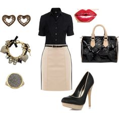 Office Polished, created by #abstephens06 on #polyvore. #fashion #style D&G Dorothy Perkins