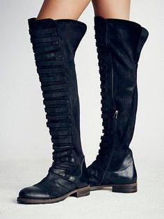 a72b4874b5064 2017 New british retro style knee high boots women stylish narrow band  pathwork long boots large size snow booties black olive